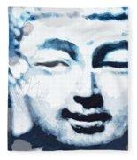 Peaceful Buddha 2- Art By Linda Woods Fleece Blanket
