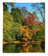 Peaceful Calm - Allaire State Park Fleece Blanket