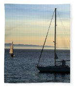 Peaceful Day In Santa Barbara Fleece Blanket