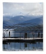 Peaceful Docks At Priest Lake Fleece Blanket