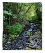 Peaceful Flowing Creek Fleece Blanket