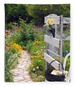 Peaceful Garden Fleece Blanket
