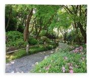 Peaceful Garden Path Fleece Blanket