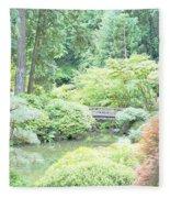 Peaceful Garden Space Fleece Blanket
