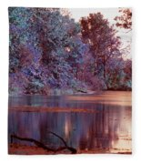 Peaceful In Infrared No2 Fleece Blanket