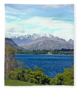 Peaceful Lake -- New Zealand Fleece Blanket