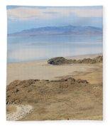 Peaceful Moments By The Salt Lake 4 Fleece Blanket