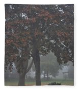 Peaceful Morning Mist Fleece Blanket