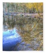 Peaceful Pond Reflections  Fleece Blanket