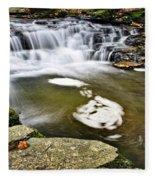 Peaceful Pool Waterfall Fleece Blanket