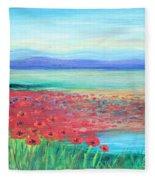 Peaceful Poppies Fleece Blanket