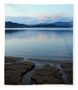 Peaceful Priest Lake Fleece Blanket