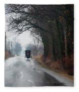 Peaceful Road Fleece Blanket