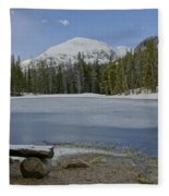 Peaceful Rocky Mountain National Park Fleece Blanket