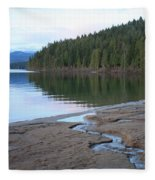 Peaceful Spring Lake Fleece Blanket