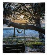 Peaceful Sunset Fleece Blanket