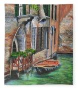 Peaceful Venice Canal Fleece Blanket