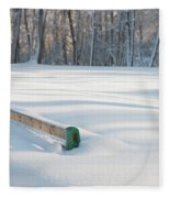 Peaceful Winter Snow Fleece Blanket