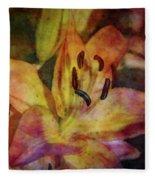 Peach And Yellow 2625 Idp_2 Fleece Blanket