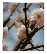 Peach Blossoms In Spring Fleece Blanket