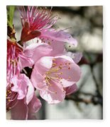 Peach Blossoms Fleece Blanket