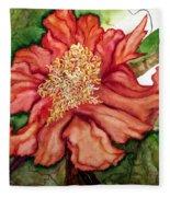 Peach Drama Fleece Blanket