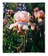 Peach Iris Fleece Blanket