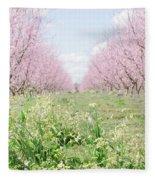 Peach Orchard 4 Fleece Blanket