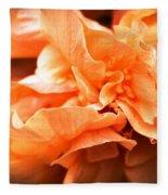 Peach Ripples Fleece Blanket