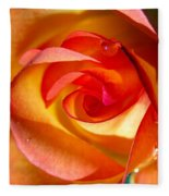 Peach Rose Fleece Blanket