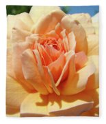 Peach Rose Art Prints Roses Flowers Giclee Prints Baslee Troutman Fleece Blanket