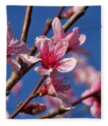 Peach Tree Blossoms Fleece Blanket