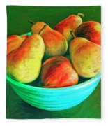 Peaches And Pears Fleece Blanket