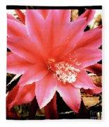 Peachy Pink Cactus Orchid Fleece Blanket