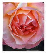 Peachy Rose Fleece Blanket
