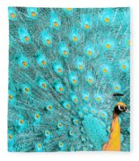 Peacock 1 Fleece Blanket