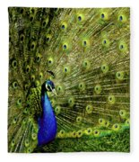 Peacock At Frankenmuth Michigan Fleece Blanket