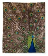 Peacock At The Fort Fleece Blanket