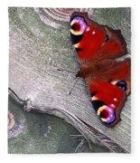 Peacock Butterfly Fleece Blanket