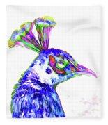Peacock Closeup Fleece Blanket