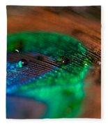 Peacock Feather Fleece Blanket