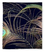 Peacock Feathers -1 Fleece Blanket