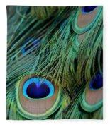 Peacock Feathers Fleece Blanket