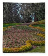 Peacock Garden Fleece Blanket