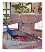 Peacock - Havana Cuba Fleece Blanket