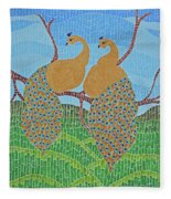 Peacock Love Fleece Blanket