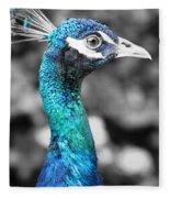 Peacock Luminance Fleece Blanket