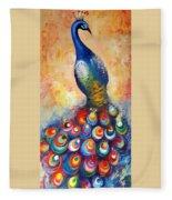 Peacock  Fleece Blanket