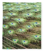 Peacock Tail Feathers  Fleece Blanket