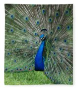 Peacocks Glory Fleece Blanket